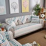 Funda de cojín de algodón antideslizante para exteriores, resistente y decorativa, para sofá, bohemios, gruesa, 90 x 120 cm