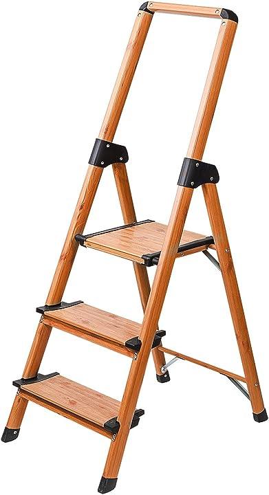 Scaletta domestica a 3 gradini anti scivolo leggero e robusto tatkraft upstairs 4742943016347