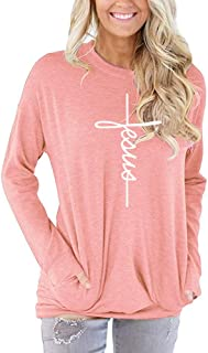 shifeier Women's Casual Round Neck Sweatshirt T-Shirts Tops Blouse with Pocket 9 Color