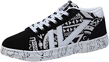 Men's Graffiti Shoes-RQWEIN Fashion Student Shoes Tide Shoes High Top Casual Shoes Sports Shoes Running Shoes