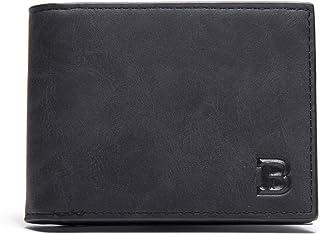 comprar comparacion Kongqiabona-UK Hombre de Moda Business Money Clip Carteras Cortas Titular de la Tarjeta Slim Designer PU Leather Purse Hom...