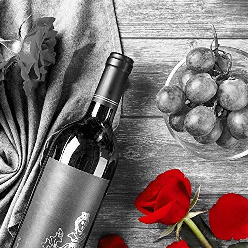 Rode wijn Cup Rose foto Home Decor Wall Art Nordic Canvas schilderij minimalistische Art Print en poster voor Restaurant woonkamer, C-BLT-HJ, 40x40cm 16x16inch