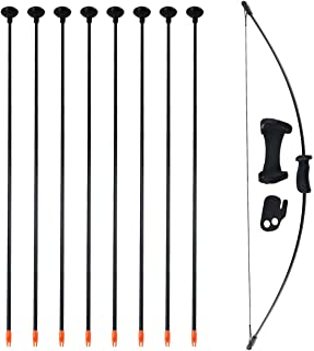 SinoArt Basic Archery Bow and Arrow Set Outdoor Sports Game Hunting Toy Gift Bow Set with 8 Suction Arrows 16 LBs for Kids Children Youth