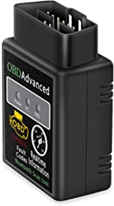 Friencity Bluetooth OBD2 Scanner Adapter, Wireless Diagnostic Code Reader OBD II Scan Tool Reset & Clear Check Car Engine Light, Compatible with Android & Windows, Support Torque Lite App, NOT for iOS