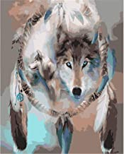 Painting by Numbers DIY Oil Painting for Adult Animal, Wolf, Dream Catcher, Photo Canvas Print Wall Art Decoration 40X50Cm