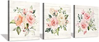 Hardy Gallery Nature Picture Floral Arts Paintings: Bloom Antique Roses Bouquet Graphic Artwork Print on Wrapped Canvas fo...