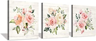 Hardy Gallery Nature Picture Floral Arts Paintings: Bloom Antique Roses Bouquet Graphic Artwork Print on Wrapped Canvas for Walls