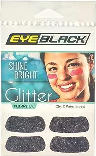 EyeBlack Black Softball Glitter Eye Black Strips, 2 Pair