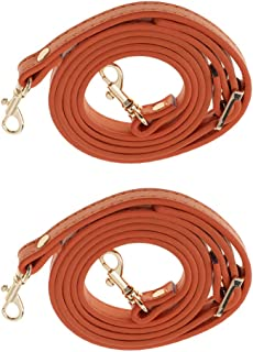 Prettyia Handbag Strap - Pack of 2 - Leather Purse Handle Bag Accessories with Metal Clasp, 120 cm/47 Inch