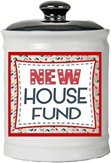 Cottage Creek House Gifts New House Fund Jar Moving Piggy Bank New House Coin Bank/Fun Gifts [White]