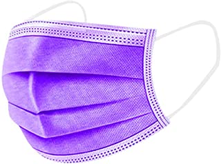 Protective Face Muzzles Non-woven Anti-Particle Anti-droplet Anti-pollen Dust-proof Breathable Dustproof Face Muzzles purple 50PCS