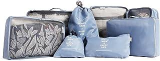 アレンジケース トラベルポーチ 8点セット 軽量 防水 大容量 旅行 出張 衣類収納 靴バッグ 洗面用具入れ PC周辺小物整理用