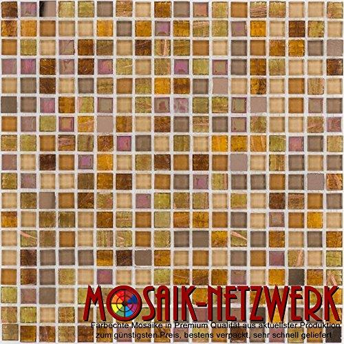 Vetro Mosaico Piastrelle Beige Madreperla Floor parete doccia WC cucina | 10Tappetini | Art: ES 66353_ F
