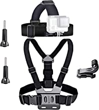 VVHOOY Universal Head Strap Mount Chest Strap Harness and Screw Adapter Compatible with Dragon Touch 4K,AKASO EK7000,Brave...