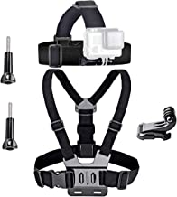 VVHOOY Universal Head Strap Mount Chest Strap Harness and Screw Adapter Compatible with VanTop 4K,AKASO,Dragon Touch,APEMAN,Crosstour Action Camera Accessories Bundle Gift Kit