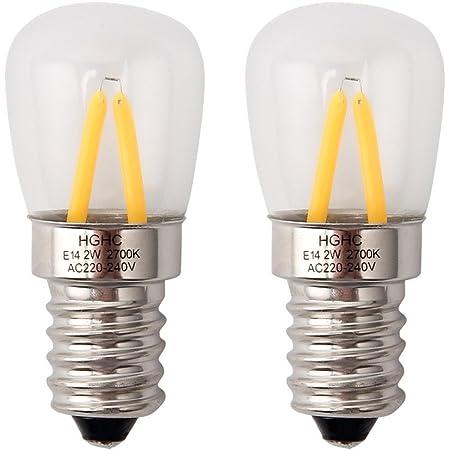 Birne Lampe Gl/ühbirne Gl/ühlampe Leuchtmittel f/ür K/ühlschrank K/ühlschrankgl/ühbirne warmwei/ß 2200 K 15W E14 K/ühlschranklampe warm-wei/ß 230V