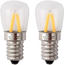 Bombilla nevera E14, edison bombilla LED 2W (Equivalente a