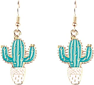 Lightweight Statement Earrings Cactus Dangles Gifts For Her Cactus Earrings Acrylic Jewelry For Women