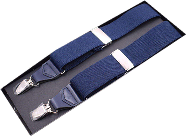YUNEE Men Suspenders Modern Trousers Pants Men Y Shape 3.5 X 120cm 3Clips