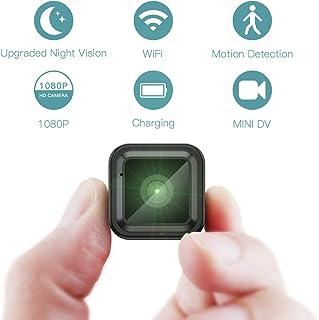 Mini Camara Espia Oculta Videocámara CACAGOO 1080P HD WiFi Cámara 2.4Ghz Vigilancia Portátil Secreta Compacta con Detector de Movimiento IR Visión Nocturna Camaras de Seguridad Pequeña