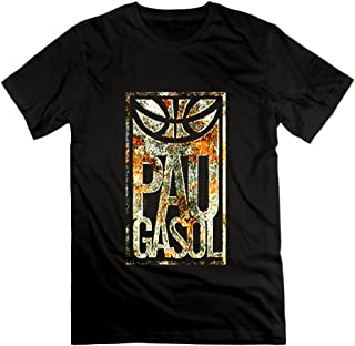 US-Mens Pau Gasol Basketball Player Tees Shirt.