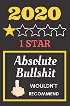 2020 1 Star. Absolute Bullshit. Wouldn't Recommend.: Funny 2020 gifts. This Notebook /Journal is 6x9in 110+ lined ruled an...