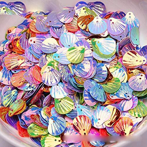 14 / 20mm DIY materiaal goud licht kleine schelp accessoire pailletten pvc kralen pvc pailletten bruiloft decoratie pailletten, Mix, 20mm