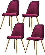 ZCXBHD Krzesła do jadalni zestaw 4 nowoczesnych krzeseł do jadalni kuchni do pokoju dziecięcego tapicerowane z kutego żela...