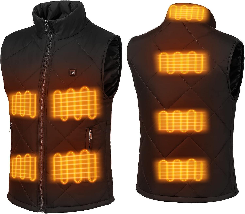 FERNIDA Winter Heated Vest 5V/2A USB Electric Heating Vests for Men Women (Battery Not Included)