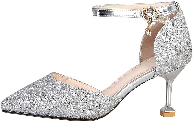 AicciAizzi Women Fashion Heels Pump Ankle Strap Party shoes