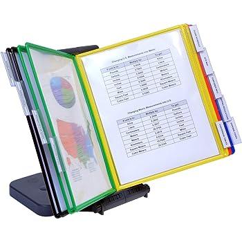 Business Source Deluxe Catalog Display Racks 20 Documents Black BSN62888 2-Pack