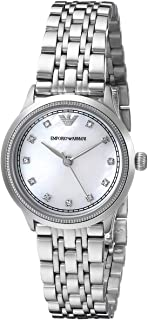 Emporio Armani Classic Women'S Mother Of Pearl Dial Stainless Steel Band Watch Ar1803, Analog