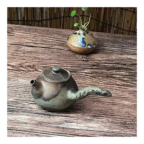 Bin Zhang Théière en céramique pour bois de chauffage Noir