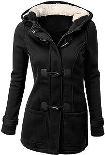 HGWXX7 Women's Winter Warm Plus Size Cotton Long Jackets Hooded Outwear Trench Coats