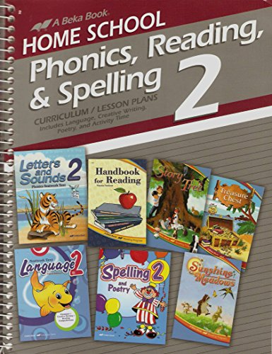 Home School Phonics, Reading, & Spelling 2 - Curriculum/Lesson Plans (A Beka Book)