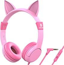 [Upgrade]iClever Boostcare Kids Headphones Girls – Cat Ear Hello Kitty Wired..