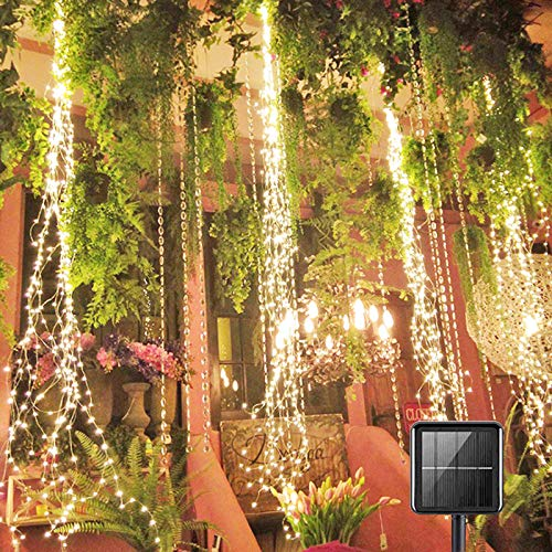 Firefly Bunch Lights, 8 Flashing Modes , Fairy Copper Decorative Vine Solar Watering Can Lights