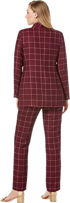 Jessica London Women's Plus Size Double-Breasted Pantsuit Set