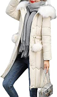 Macondoo Women Casual Outwear Cotton-Padded Hoodie Puffer Down Jacket