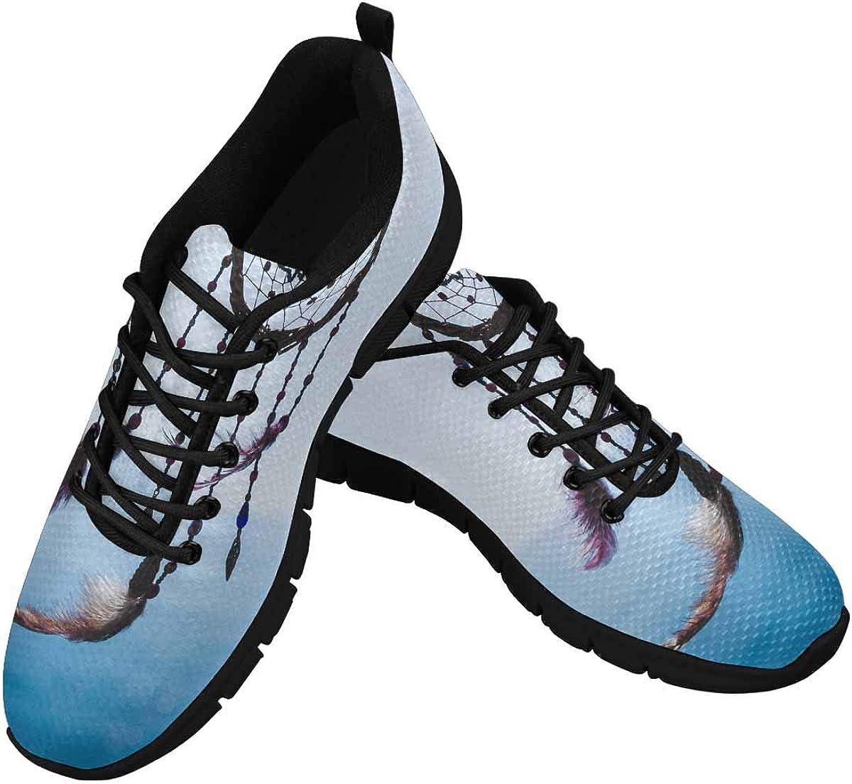 InterestPrint Dream Catcher on The Sea Background Women's Athletic Walking Shoes Comfort Mesh Non Slip