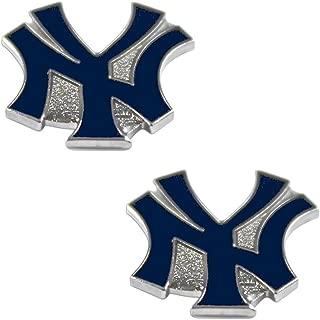aminco New York Yankees Post Stud Logo Earring Set Mlb Charm