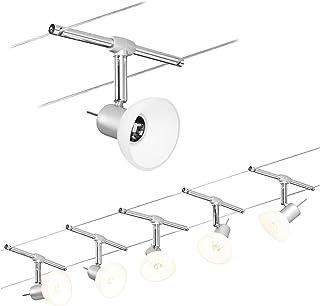 Paulmann 94136 Sheela Système d'éclairage LED à spots - Set d'éclairage sur fil avec 5 luminaires suspendus, câble de 10 m...