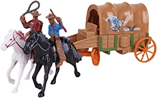 TOYANDONA 1 Set Carriage Cowboy Model Toy Cowboy Figurines Collection Toy Carriage Crafts Western Cowboy Ornament