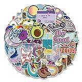 Lustige süß Graffiti Aufkleber aus Vinyl, wasserdicht, für Wasserflasche, junge Mädchen, Kinder, Fahrrad, Skateboard, Gepäck, Stoßschutz (100 Stück)