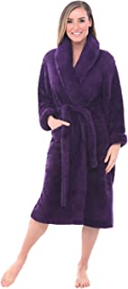Alexander Del Rossa Womens Solid Color Fleece Robe 1654af233