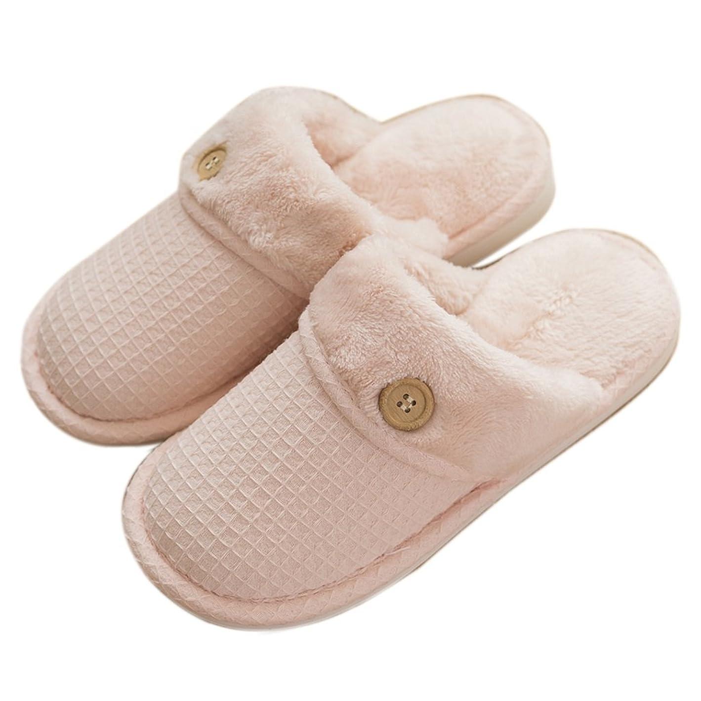 ウィンクご近所ペルメルスリッパ冬の女性の綿ノンスリップ暖かい家庭用吸収剤ソフトで快適な靴 ( 色 : Pattern 3 , サイズ さいず : EUR:36-37 )