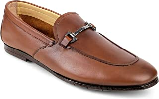 tresmode Mens Leather Horsebit Loafer