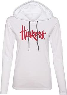 CornBorn Choose Your Design - Script Huskers Logo Hooded Tshirt Unisex Sizing