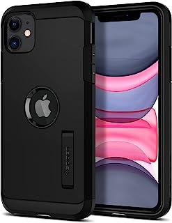 Spigen TPU, PC/Polycarbonate Tough Armor Back Cover Case Compatible with iPhone 11 (Black)