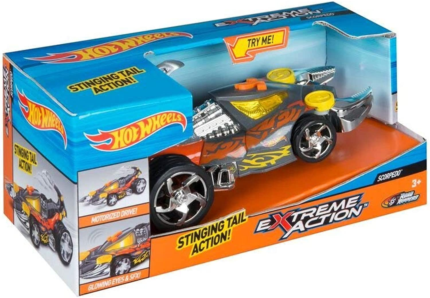 Hot Wheels Extreme Action Scorpedo Toy Car Spider Light and Sound